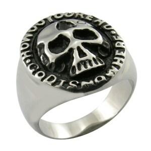 Men Big Heavy Skull Stainless Steel Biker Ring pictures & photos