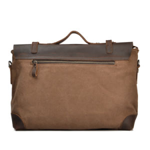 Redswan Leather Cover Cross Canvas Messenger Briefcase (RS-2167) pictures & photos