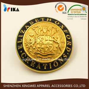 Custom Embossed Logo Zinc Alloy Metal Coat Sewing Shank Button pictures & photos
