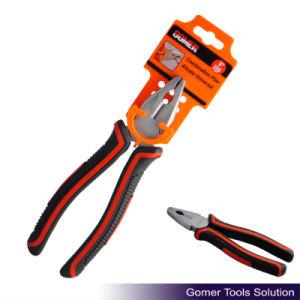 Rubber Handle Good Quality Combination Plier (T03025-G)