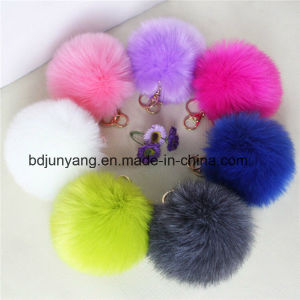 Stylish Bag Cham Fur POM POM Accessory pictures & photos