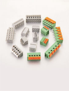 Wanjie Screwless/PCB Spring Terminal Block with Dual Row Pin Header (WJ235A) pictures & photos