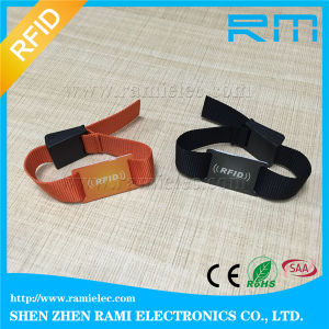NFC Wristband Strap / Stretch Woven RFID Wristband with Ultralight-EV1 Chip