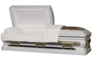 Sterling Gold White Urn Corner Casket pictures & photos