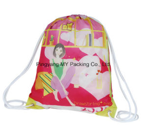 Custom Logo Print Drawstring Promotional Bag pictures & photos