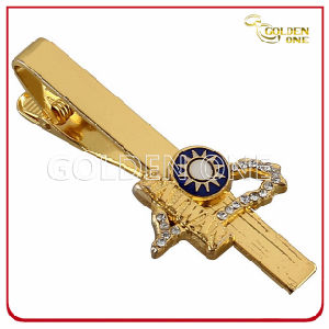 Hard Enamel Metal Tie Bar with Shiny Crystal pictures & photos
