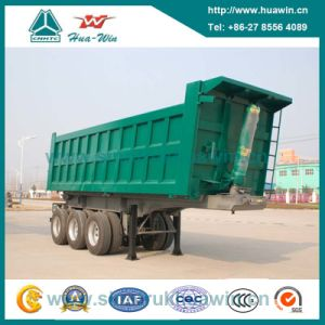60 Ton 3 Axle Hyva Tipper Semi Trailer for Mining pictures & photos