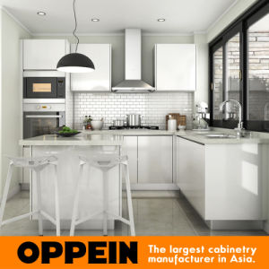 Oppein Modern L-Shape Wooden Kitchen Cabinet with Lacquer Finish (OP15-L32) pictures & photos