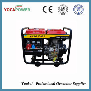 5.5kw Three Phase Home Use Portable Diesel Generator (YKS-7500E3) pictures & photos