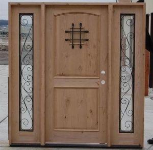 Solid Meranti Exterior Wooden Door Entrance Door Decoration with Glass Door pictures & photos
