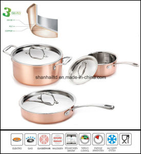 Tri-Ply Copper Clad Cookware Set pictures & photos