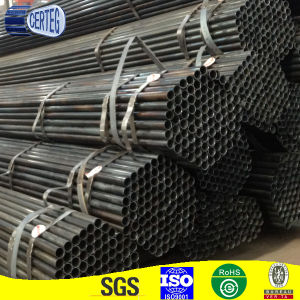 Black round steel pipe with different sizes pictures & photos