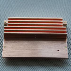 Copper C1102 Stamping Folded Fin Soldered Heatsink