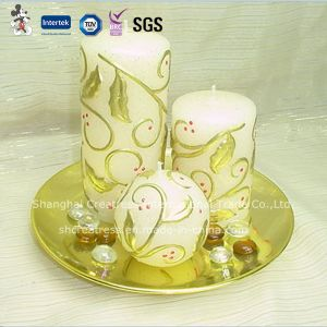 6 Inch Multi-Colored Pillar Art Candle pictures & photos