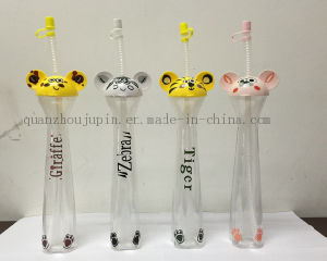 OEM Straw Ice Slush Yard Cup with Cartoon Design Lid pictures & photos