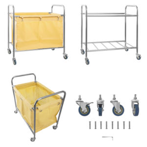 Strong Cone Shape Hotel Solid Linen Laundry Trolley with Bottom Price pictures & photos
