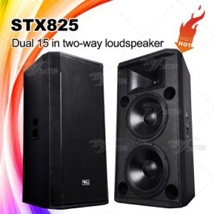 Skytone Stx825 Double 15′′ Proessional PA Audio Satge Loudspeaker pictures & photos