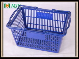 20 Liters Supermarket Plastic Hand Shopping Basket Mjy-Tb04 pictures & photos