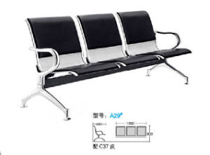 Popular Steel Public Bench Hospital Visitor Chair 3 Seater Airport Chair A61# in Stock pictures & photos