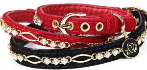 Luxury Velvet Diamond Pet Collar and Leashes pictures & photos