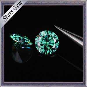 1 Carat 6.5mm Green Color Moissanite Diamond pictures & photos