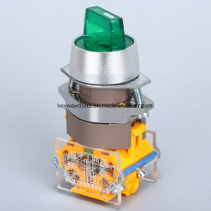 Illuminated Rotary Push Button Switch (LA118A series) 220V pictures & photos
