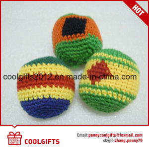Wholesale Cotton Thread Knitted Kick Ball Custom Footbag Hacky Sack with Logo Printing pictures & photos