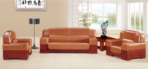Italy Design Classic Wooden Office Furniture Leather Office Sofa (NS-D8001) pictures & photos