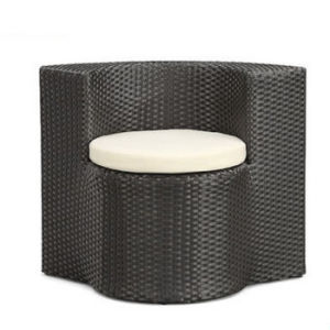Garden Patio Dining Furniture Black Rattan Weave Round Chair and Table Set pictures & photos