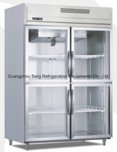 Stainless Steel Commercial Glass Door Refrigerator for Beverage and Drink pictures & photos