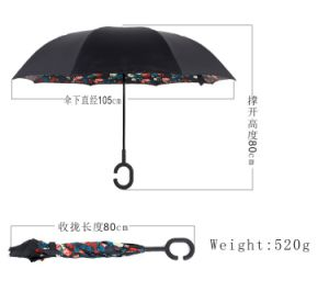 Hot Sale Reverse Upside-Down Umbrella Inverted Inside out Umbrella pictures & photos