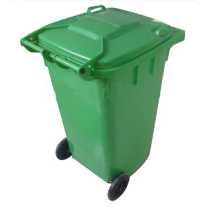 240L Plastic Waste Bin Attached Wheel pictures & photos