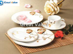 20 PCS White Porcelain Dinner Set Elegant Euro Lines Series pictures & photos