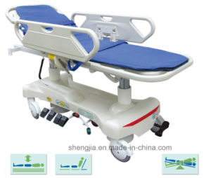 Sjm005 Luxurious Electric Rise-and-Fall Stretcher Cart