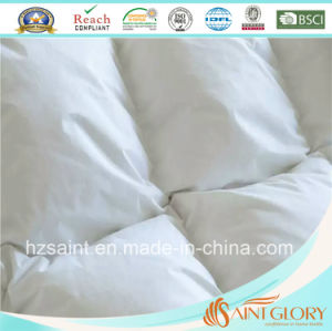 100% Cotton Fabric Down Blanket White Goose Feather and Down Quilt pictures & photos