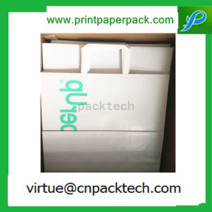 White Customized Printing Twisted Coated Paper Shopping Bag with Paper Handle pictures & photos