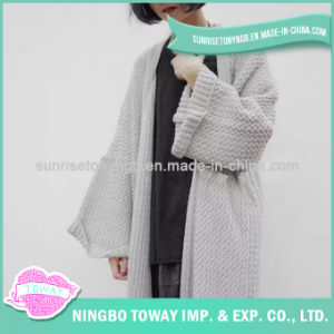 High Quality Custom Knitted Crochet Long Girl Sweater pictures & photos