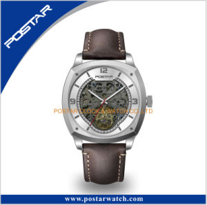 Automatic Tourbillon Watch Genuine Leather Strap Watch Skeleton Dial pictures & photos