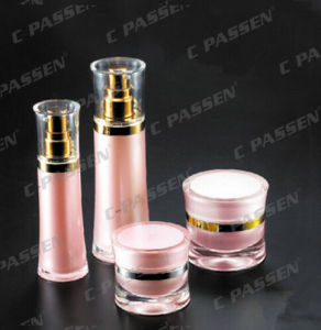 Pink Waisted Acrylic Cream Jar for Cosmetic Packaging (PPC-ACJ-108) pictures & photos