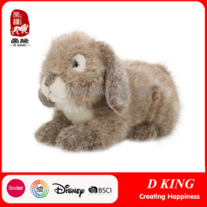 Lifelike Plush Stuffed Rabbit Brown Toys pictures & photos