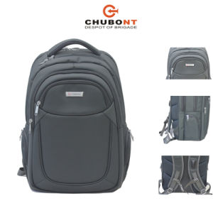 Chubont Padded Laptop Bag Double Shoulder Backpack with Earphone Slot pictures & photos