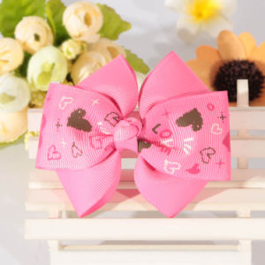 Custom Grosgrain Ribbon Bow for Gift DIY Decoration pictures & photos