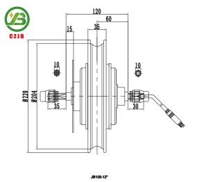 Jb-105-12′′ Europe 36V 250W Brushless Hub E Bike Motor pictures & photos