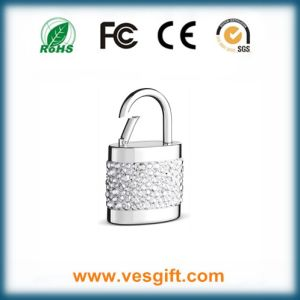 Lock Shape Crystal USB Custom Gift Flash Drive pictures & photos