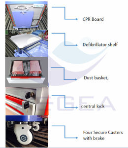 High Quality Durable and Easy Cleaning Hospital Emergency Trolley (AG-ET001A1) pictures & photos