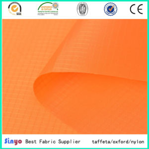 Breathable Polyurethane Coated Taffeta 210t Ripstop Fabric for Tents pictures & photos