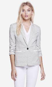 Fancy Ladies 100% Cotton Casual Suit Jacket pictures & photos