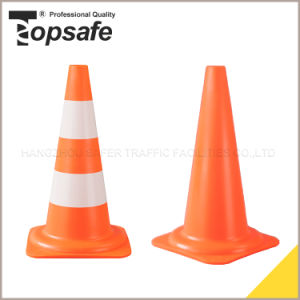 50cm Height PE Cone with 10+9cm Reflective Tape (S-1207) pictures & photos