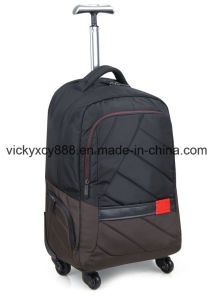 New Style Double Shoulder Wheeled Business Travel School Bag (CY3719) pictures & photos