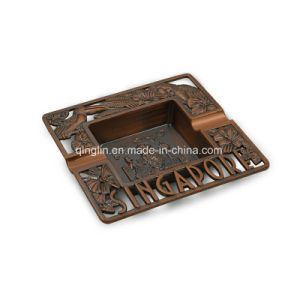 Singapore Fashionable Square Leather and Metal Ashtray pictures & photos